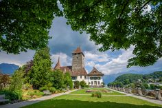 Spiez, Switzerland - Spiez, Switzerland 2017 Switzerland, Mansions, House Styles, Home Decor, Mansion Houses, Decoration Home, Manor Houses, Villas, Fancy Houses