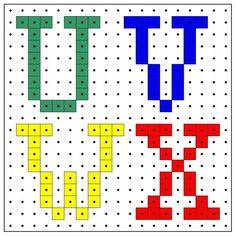 * Letters u-v-w-x