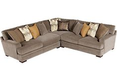 This sectional is big and comfy. Cindy Crawford Home Fontaine 3 Pc Sectional