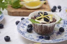 Små glutenfri blåbærtærter med mascarponecreme...