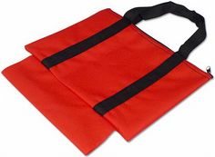 Chess Piece & Board Canvas Bag - Red
