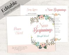 YW New Beginnings Program Editable Program Young Women LDS