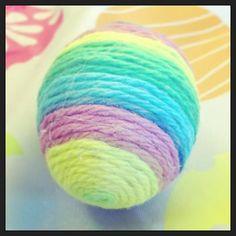 Decorative Easter egg. #yarn #Easter #egg