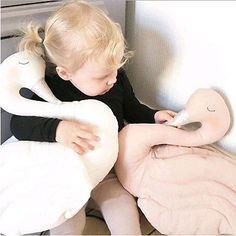 Cute Plush Doll Toy Stuffed Animal Swan Soft Lumbar Pillow Cushion Bolster Gift