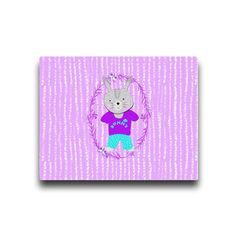 Cute Whimsy Bunny Rabbit Canvas by designmarketshop at zippi.co.uk
