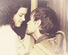 Kaliope and the stable boy Jonas Armstrong, Best Tv Couples, Best Couple, Medieval Tv Shows, Lucy Griffiths, Robin Hood Bbc, Sherwood Forest, King And Country, Book Tv