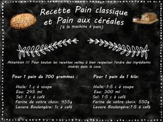 pain recette classiqueok Map, Pains, Cooking Recipes, Drinks, Cereal Bread, Location Map, Maps