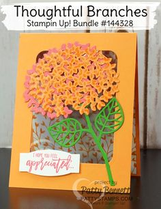 Color Fusers Blog Hop: July 2016 - Part 2 | Stampin' Up! Thoughtful Branches in…