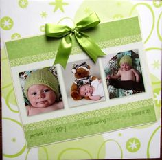 cute idea...could use the birth announcement or Christmas card!
