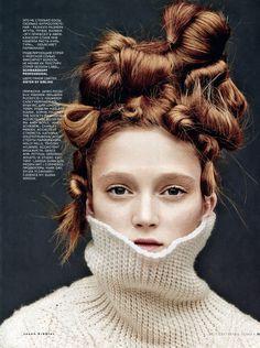 Vogue Russia September 2014 | Harleth Kuusik & Sophie Touchet by Jason Kibbler [Beauty]
