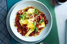 Instant Pork Ragu: Silvia Colloca (Delicious. on Sunday) . Lasagna sheets give this ragu a twist you'll love.