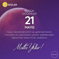 🎂21 Mayıs doğumlu olan tüm İkizler'e mutlu yıllar! 🎆 #moyra  #moyrabilir #astroloji  #ikizler  #ikizlerburcu  #burclar  #burc  #zodyak #21mayıs