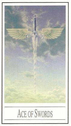 Ace of Swords tarot card - L'as d'épées - Tarot Ananda par Ananda Kurt Pilz