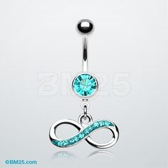 Infinity Sparkle Loop Belly Button Ring