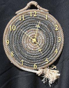 rope-clock - Big DIY Ideas #WesternDecor