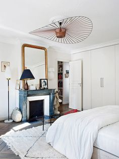 stylish bedroom in paris apartment. / sfgirlbybay