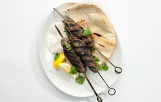 Grilled Lamb Kefta Lamb and yogurt is a classic combination. You'll be scraping the plate with pita.