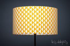Abat-jour géométrique scandinave triangles jaune 30cm, abatjour, abat jour : Luminaires par lias-delights