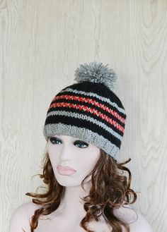 Womens Teens Boys Fair isle Beanie Hat Ski Hat by slouchiehats