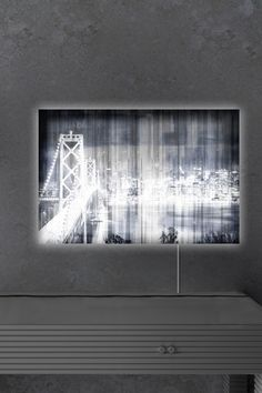 Oliver Gal Gallery City Lights Never Sleep LED Lightbox Art