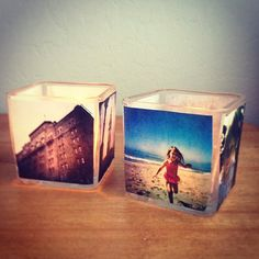Pin for Later: 37 of the Best DIY Gifts For College Students Photo Votive Candles These photo votive candles are an easy, personalized gift idea.