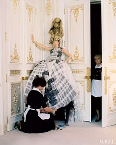 Dior Haute Couture dress, 2012. Kate Moss at the Ritz, Paris. Vogue