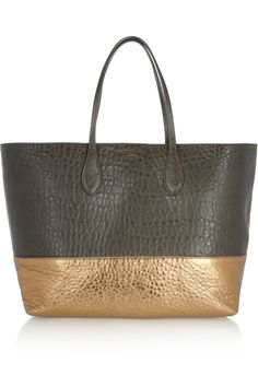 Rochas | Two-tone textured-leather shopper | NET-A-PORTER.COM