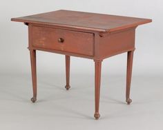 198: Pennsylvania painted tavern table, late 18th c. : Lot 198