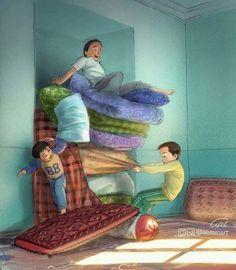 Beautiful Life - Hindi /punjabi added a new photo. Art Village, Childhood Memories Quotes, Indian Art Paintings, Art Pictures, Photos, Art Drawings Sketches, Art Girl, Illustration Art, Cartoon