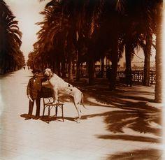 """Paseo de los Mártires. Don Artemio y el """"Ras"""" Año: 1919 - Archivo Ayuntamiento.Colección: FRANCISCO RAMOS MARTÍN"""