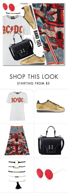 """I'm With the Band: Band T-Shirts"" by paculi ❤ liked on Polyvore featuring Boohoo, NIKE and bandtees"