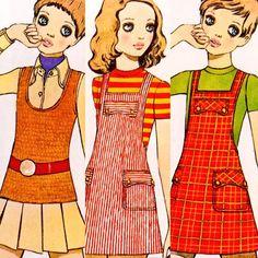 1968~1970 佐藤昌彦 ファッション・イラスト。☆Fashion illustration by Masahiko Satō, '68~'70, Japan.