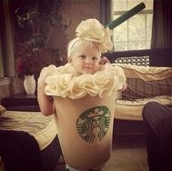 child in starbucks costume. TOO CUTE!!! lol :-)