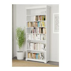 IKEA - LIATORP, Bookcase, white, , Cornice and plinth rail help create a uniform expression when two or more units are connected together.The shelves are adjustable so you can customize your storage as needed.Two fixed shelves provide increased stability.Adjustable feet for stability on uneven floors.