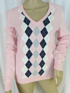 """""""TOMMY HILFIGER"""" 100% PIMA COTTON PINK ARGILE SWEATER - PLEASE SEE ALL PICTURES"""