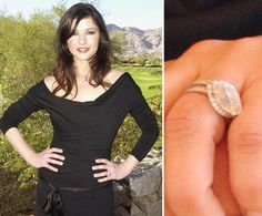 Pin for Later: The Very Best Celebrity Engagement Rings Catherine Zeta-Jones Catherine Zeta-Jones and Michael Douglas became engaged in December 1999.