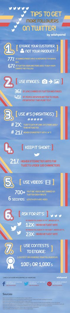 7 Tips to get more followers on Twitter - #twitter #infographics
