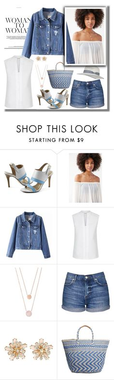 """Denim shorts"" by ann-kelley14 on Polyvore featuring Lands' End, Kimchi Blue, Hobbs, Michael Kors, Topshop, New Look and Lucky Brand"