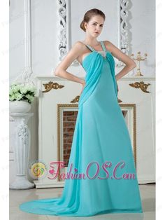 Turquoise Empire Straps Ruch and Beading Prom Dress Brush Train Chiffon- $128.16  http://www.fashionos.com  http://www.facebook.com/quinceaneradress.fashionos.us   turquoise brush train prom dress | fairy queen prom dress | turquoise straps prom dress | turquoise ruched prom dress | prom dress on sale under150 for cheap | turquoise empire silhouette prom dress | lovely 2013 prom dress for graduation | straps chiffon floor length prom dress |