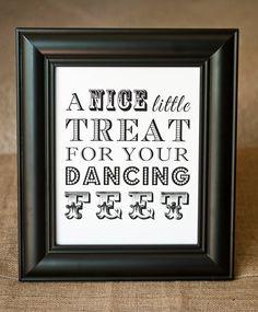 8 x 10 A Nice Little Treat for your Dancing Feet - Flip Flop Dancing Shoes Wedding Basket