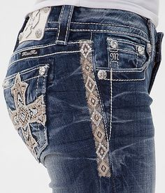 Miss Me Embroidered Skinny Stretch Jean