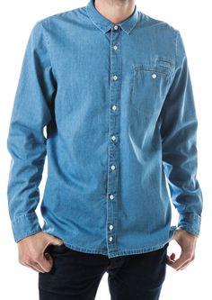 Eco luxury - certfied fairtrade organic cotton denim shirt for guys on Just Fashion Denim Button Up, Button Up Shirts, Ethical Fashion, Mens Fashion, Blue Denim Shirt, Organic Cotton, Menswear, Guys, Luxury