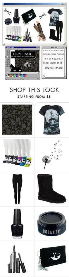 """""""Nightmare"""" by princess-maggi-lou ❤ liked on Polyvore featuring Graham & Brown, Supersonic, Disney, Heat Holders, UGG Australia, OPI, Lord & Berry and Marc Jacobs"""