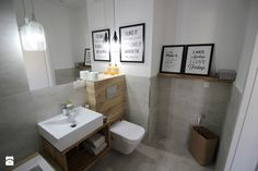 modernly, elegantly classy, grays insulated timber - Average block bathroom without windows, modern style - image of mkof