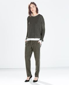 BOAT NECK SWEATER - Knitwear - WOMAN | ZARA Czech Republic