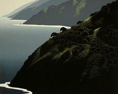 Eyvind Earle -  Big Sur Calm, 1982
