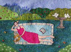 Linda Miller's embroidery art