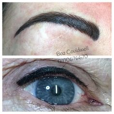 Cosmetic Tattoo eyebrow correction and refresh and upper liner lash enhancement