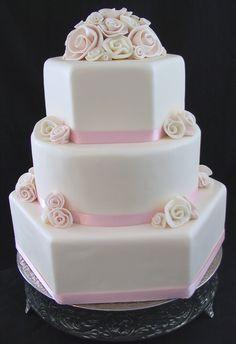 rolled rose pink cake