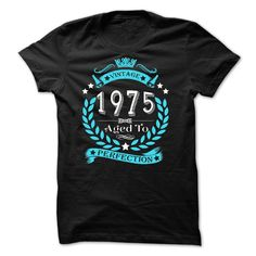 VINTAGE 1975 Aged To Perfection T Shirts, Hoodies. Check price ==► https://www.sunfrog.com/Names/VINTAGE-1975-Aged-To-Perfection-35407217-Guys.html?41382 $21